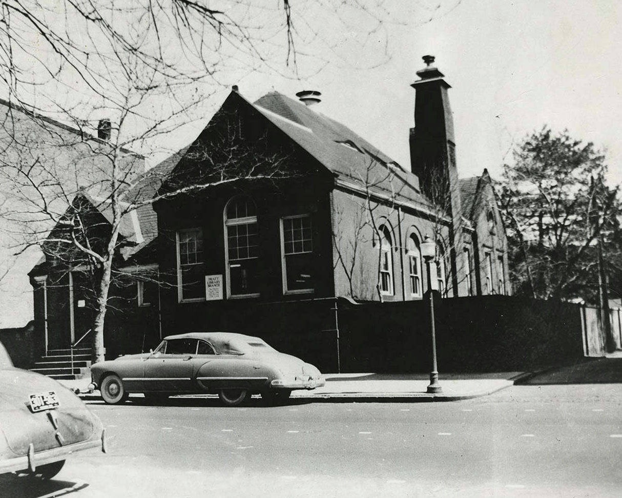 Branch Number 6 (Charles Village or Peabody Heights), Enoch Pratt Free Library, c. 1950. Courtesy Digital Maryland, [scpr098](http://collections.digitalmaryland.org/cdm/singleitem/collection/scpr/id/43/rec/5)